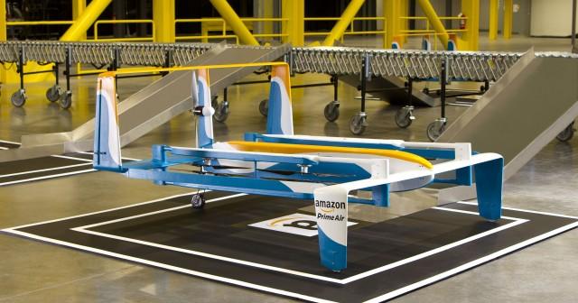 Amazon представила новый концепт складского дрона