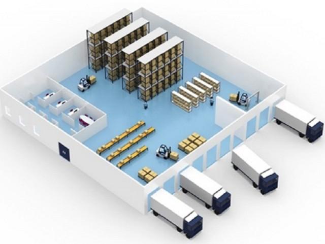 Проектирование склада с учетом технологии поточного складирования