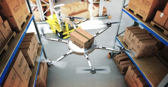 Инвентаризация склада с помощью дронов